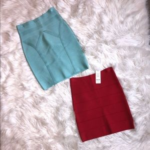 Lot of 2 - Bebe Bodycon Skirts